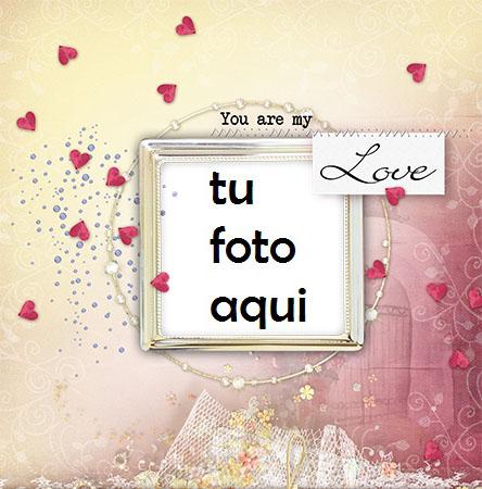 Marco Para Foto Pequeños Corazones A Tu Alrededor Amor Marcos - Marco Para Foto Pequeños Corazones A Tu Alrededor Amor Marcos