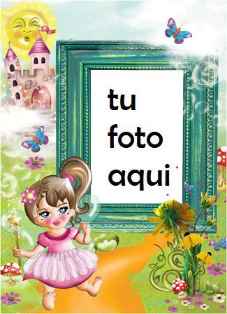Marco Para Foto Princesa De Cuento De Hadas Niños Marcos - Marco Para Foto Princesa De Cuento De Hadas Niños Marcos