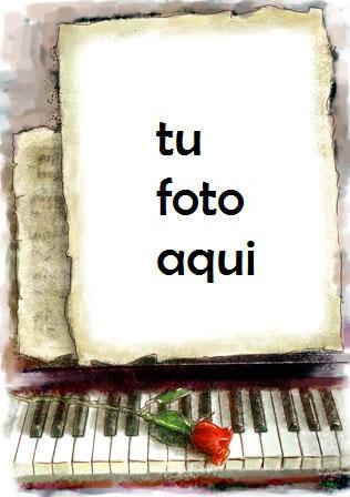 Marco Para Foto Retrato En El Piano Amor Marcos - Marco Para Foto Retrato En El Piano Amor Marcos
