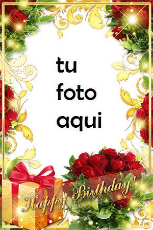 Marco Para Foto Rosas En Tu Cumpleaños Amor Marcos - Marco Para Foto Rosas En Tu Cumpleaños Amor Marcos
