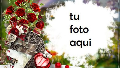 Photo of Marco Para Foto Rosas Rojas Con Perfume En Forma De Corazón Amor Marcos