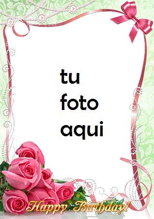 Marco Para Foto Rosas Rosadas Amor Marcos - Marco Para Foto Rosas Rosadas Amor Marcos