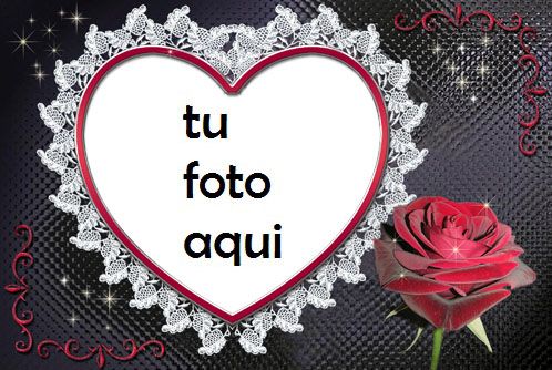 Marco Para Foto Rose Heart Amor Marcos - Marco Para Foto Rose Heart Amor Marcos