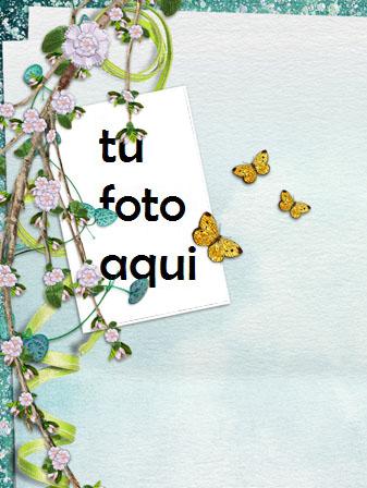 Marco Para Foto Sakura Y Mariposas Amor Marcos - Marco Para Foto Sakura Y Mariposas Amor Marcos