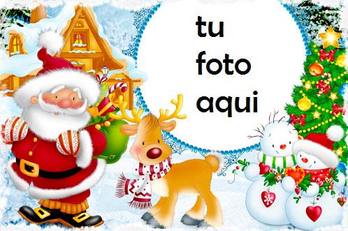 Marco Para Foto Santa Con Regalos Invierno Marcos 1 - Marco Para Foto Santa Con Regalos Invierno Marcos