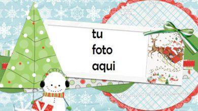Photo of Marco Para Foto Tarjeta De Navidad Estilo Chatarra Invierno Marcos
