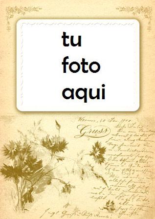 Marco Para Foto Tarjeta Postal Antigua Amor Marcos - Marco Para Foto Tarjeta Postal Antigua Amor Marcos