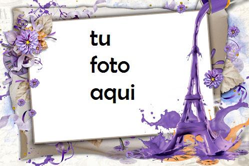 Marco Para Foto Tiempo Romántico Bajo La Torre Eiffel Amor Marcos - Marco Para Foto Tiempo Romántico Bajo La Torre Eiffel Amor Marcos