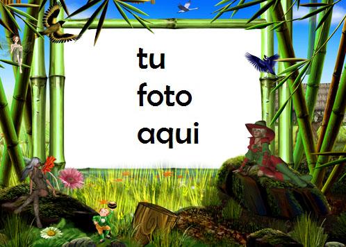 Marco Para Foto Tierra De Hadas Mágicas Primavera Marcos - Marco Para Foto Tierra De Hadas Mágicas Primavera Marcos