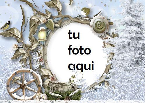 Marco Para Foto Todo Alrededor En La Nieve Invierno Marcos 1 - Marco Para Foto Todo Alrededor En La Nieve Invierno Marcos