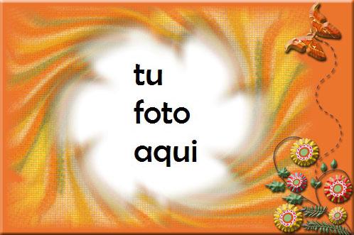 Marco Para Foto Verano Naranja Amor Marcos - Marco Para Foto Verano Naranja Amor Marcos