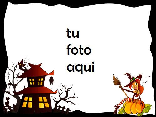 marco para foto bruja linda halloween marcos - marco para foto bruja linda halloween marcos