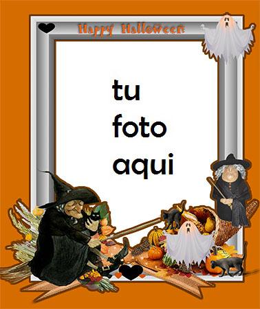 marco para foto calabaza malvada de halloween halloween marcos - marco para foto calabaza malvada de halloween halloween marcos