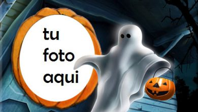 Photo of marco para foto marco de halloween con una bruja sentada en una calabaza halloween marcos