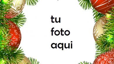 Photo of Marco Para Foto Adornos De Campanas De Navidad Navidad Marcos