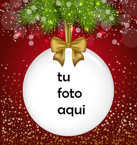 Marco Para Foto Bola Navideña Navidad Marcos - Marco Para Foto Bola Navideña Navidad Marcos