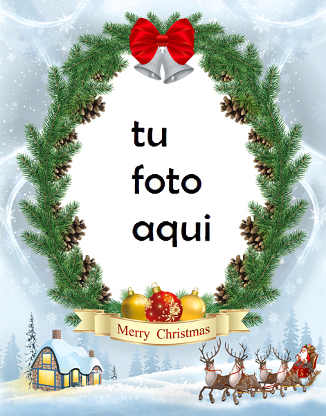 Marco Para Foto Navidad Nevada Navidad Marcos - Marco Para Foto Navidad Nevada Navidad Marcos