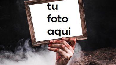 Photo of el marco de fotos de la mano de miedo