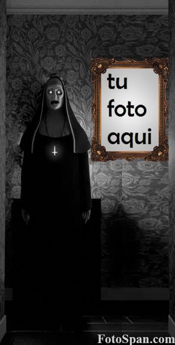 el marco de fotos de miedo de monja - el marco de fotos de miedo de monja
