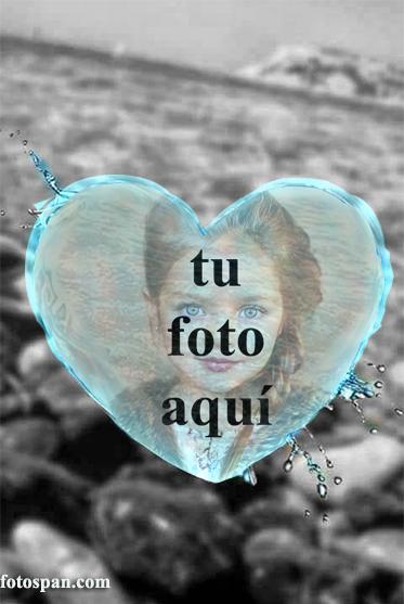 Aqua Heart Marco Para Foto - Aqua Heart Marco Para Foto