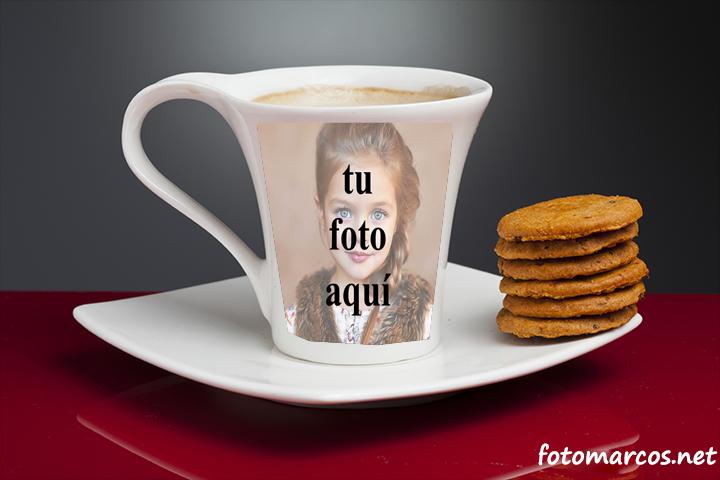 taza de té con marco de fotos - taza de té con marco de fotos