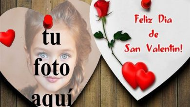 Photo of feliz día de san valentín tarjeta de marco de fotos