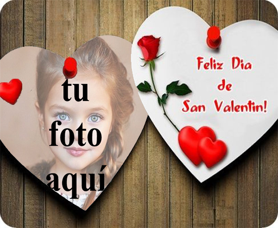 feliz día de san valentín tarjeta de marco de fotos - feliz día de san valentín tarjeta de marco de fotos