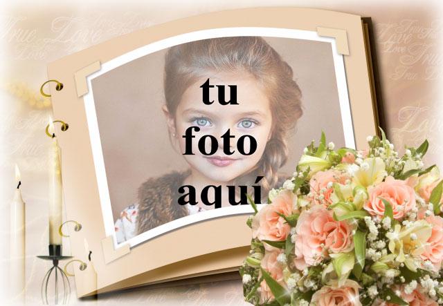 Álbum de fotos con velas románticas. foto marcos - Álbum de fotos con velas románticas. foto marcos