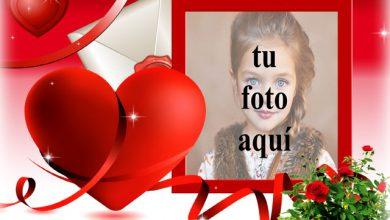 Photo of Maravillosa tarjeta de amor hermosa foto marcos