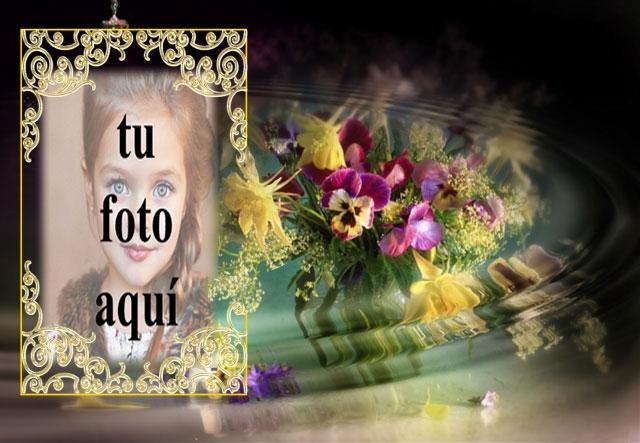 Marco Dorado Con El Ramo De Flores Más Bello Foto Marcos - Marco Dorado Con El Ramo De Flores Más Bello Foto Marcos