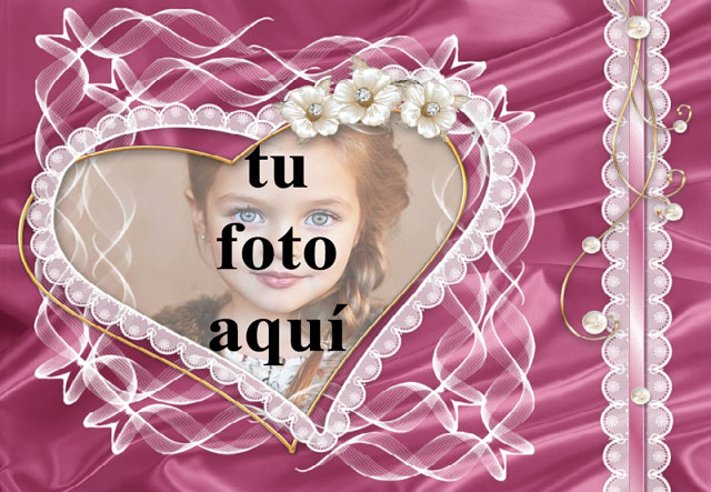 Marco de corazón decorado con flores foto marcos - Marco de corazón decorado con flores foto marcos