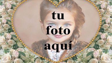 Photo of Marco dorado y flor foto marcos