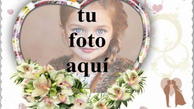 Photo of Ramo de flores blancas para la boda foto marcos
