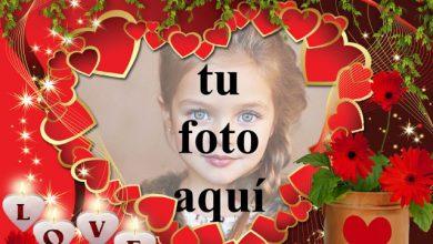 Photo of los pequeños corazones rojos de felicidad foto marcos