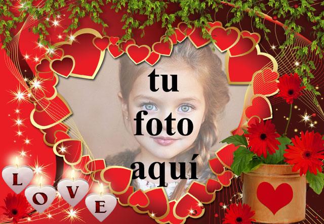 los pequeños corazones rojos de felicidad foto marcos - los pequeños corazones rojos de felicidad foto marcos