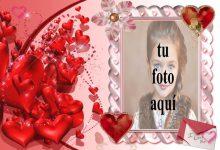 marco rosa con muchos corazones rojos foto marcos 220x150 - marco rosa con muchos corazones rojos foto marcos