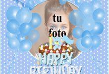 Decoración De Fiesta De Cumpleaños Azul Marcos para fotos 220x150 - Decoración De Fiesta De Cumpleaños Azul Marcos para fotos