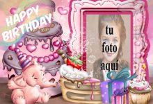 Feliz Cumpleaños Con Bebé Elefante Marcos para fotos 220x150 - Feliz Cumpleaños Con Bebé Elefante Marcos para fotos