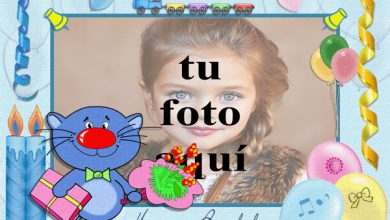Feliz Cumpleaños Con Lindo Gato Marcos para fotos 390x220 - Feliz Cumpleaños Con Lindo Gato Marcos para fotos