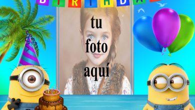 Feliz Cumpleaños Con Minions Marcos para fotos 390x220 - Feliz Cumpleaños Con Minions Marcos para fotos