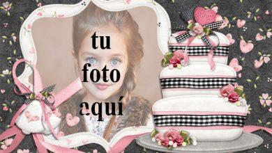 Photo of Feliz Cumpleaños Con Pastel Blanco Marcos para fotos