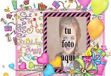 Feliz Cumpleaños Hermosa Tarjeta Marcos para fotos 220x150 - Feliz Cumpleaños Hermosa Tarjeta Marcos para fotos