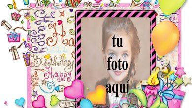 Photo of Feliz Cumpleaños Hermosa Tarjeta Marcos para fotos