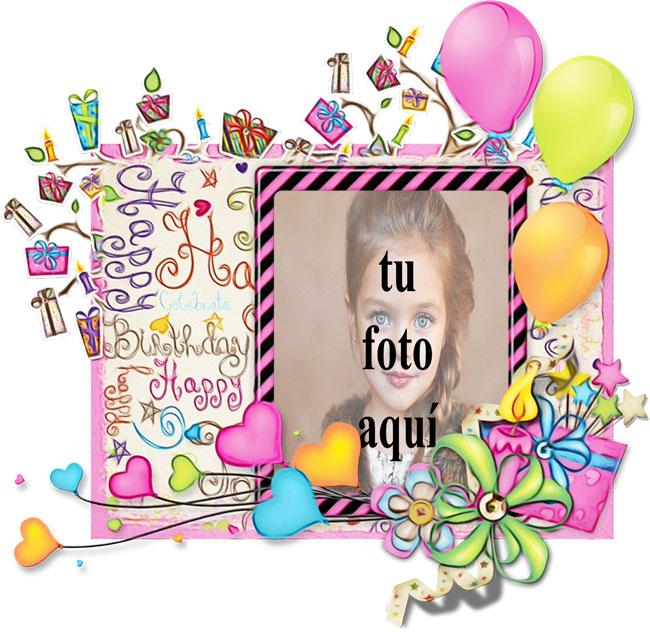 Feliz Cumpleaños Hermosa Tarjeta Marcos para fotos - Feliz Cumpleaños Hermosa Tarjeta Marcos para fotos