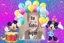 Feliz Cumpleaños Mickey Mouse Marcos para fotos 220x150 - Feliz Cumpleaños Mickey Mouse Marcos para fotos