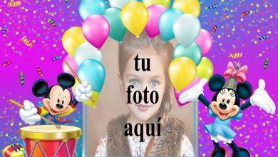 Feliz Cumpleaños Mickey Mouse Marcos para fotos 390x220 - Feliz Cumpleaños Mickey Mouse Marcos para fotos