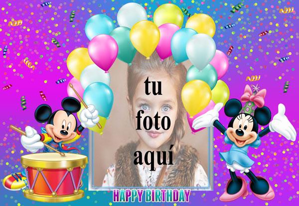 Feliz Cumpleaños Mickey Mouse Marcos para fotos - Feliz Cumpleaños Mickey Mouse Marcos para fotos