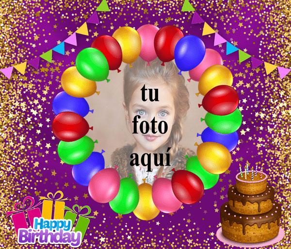 Feliz Cumpleaños Pastel De Chocolate Marcos para fotos - Feliz Cumpleaños Pastel De Chocolate Marcos para fotos