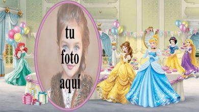 Photo of Niños De Cumpleaños Con Princesa De Disney Marcos para fotos