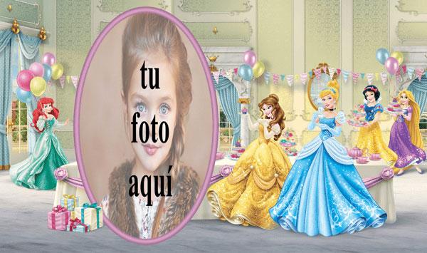 Niños De Cumpleaños Con Princesa De Disney Marcos para fotos - Niños De Cumpleaños Con Princesa De Disney Marcos para fotos